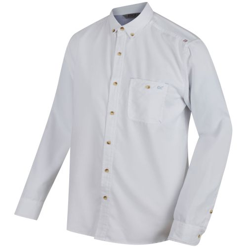 Regatta - BACCHUS COOLWEAVE LONG SLEEVE SHIRT  - White Oxford